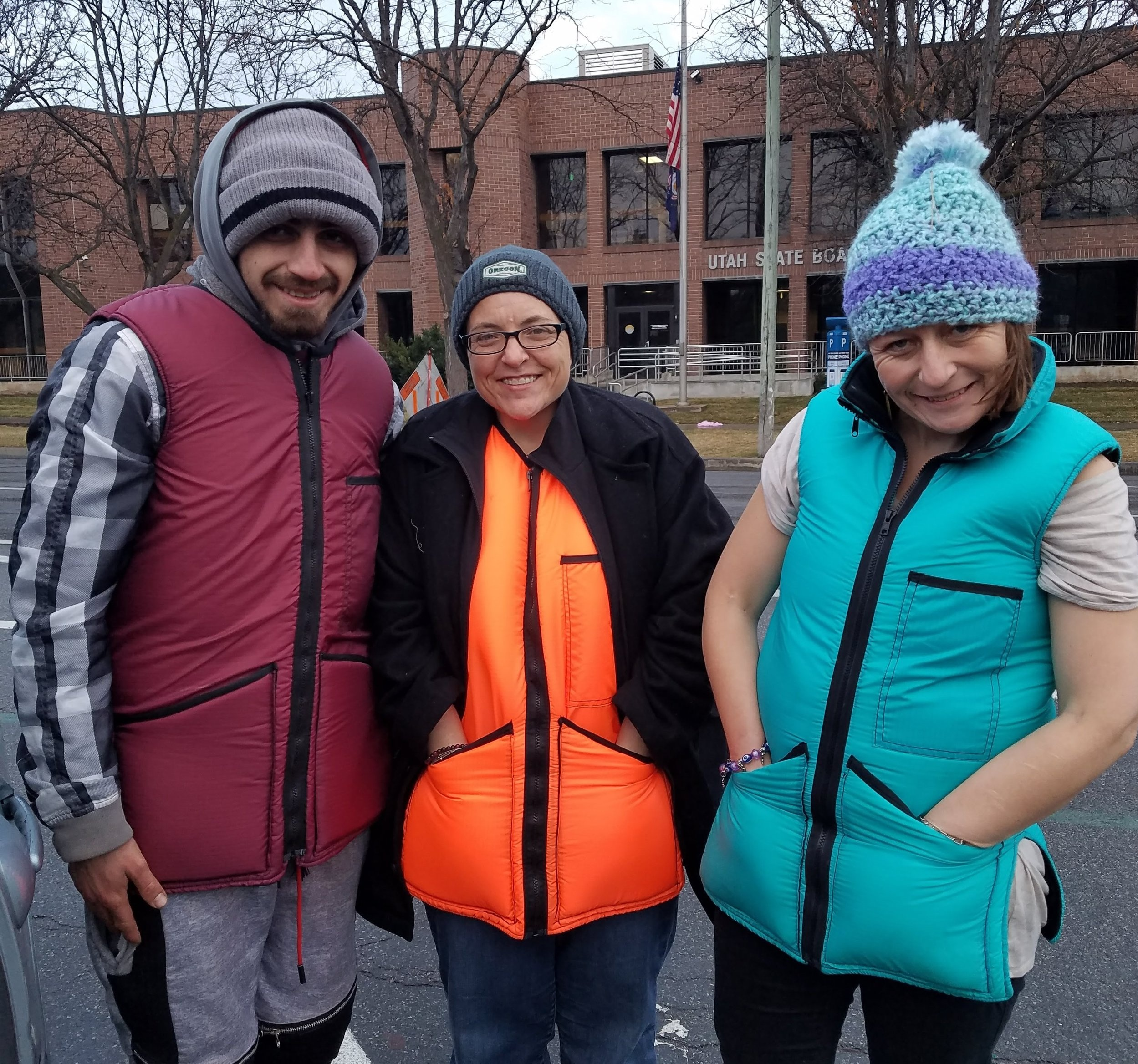 Turtle Shelter  Recipients - Handing out Turtle Shelter Vests to our friends experiencing homelessness.