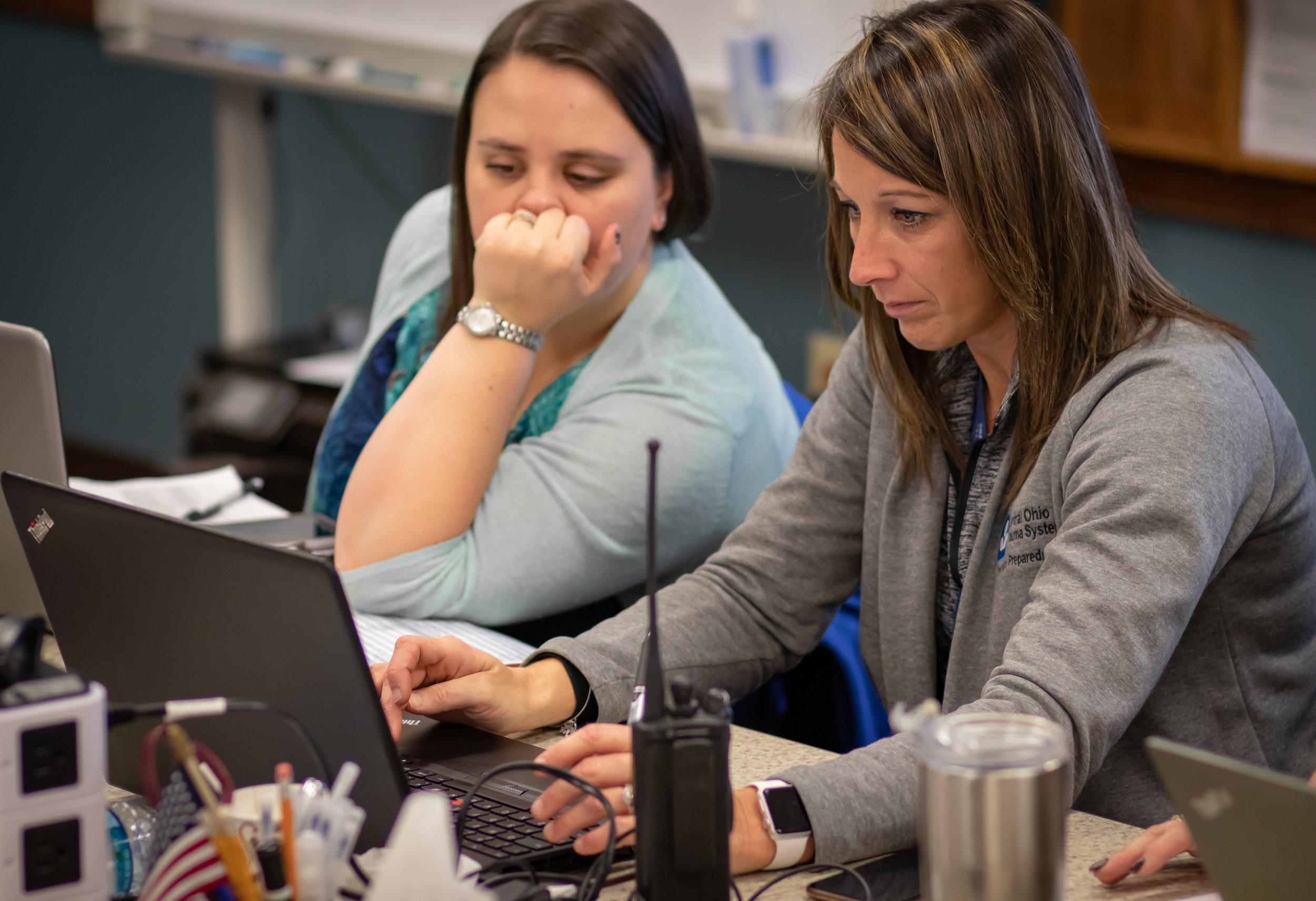 COTS staff members monitor the progress of Central Ohio hospitals during the RHEP Coalition Surge exercise
