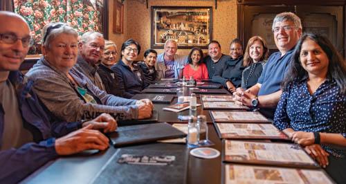 PLA graduates share a dinner at the 2018 Annual Alumni Retreat