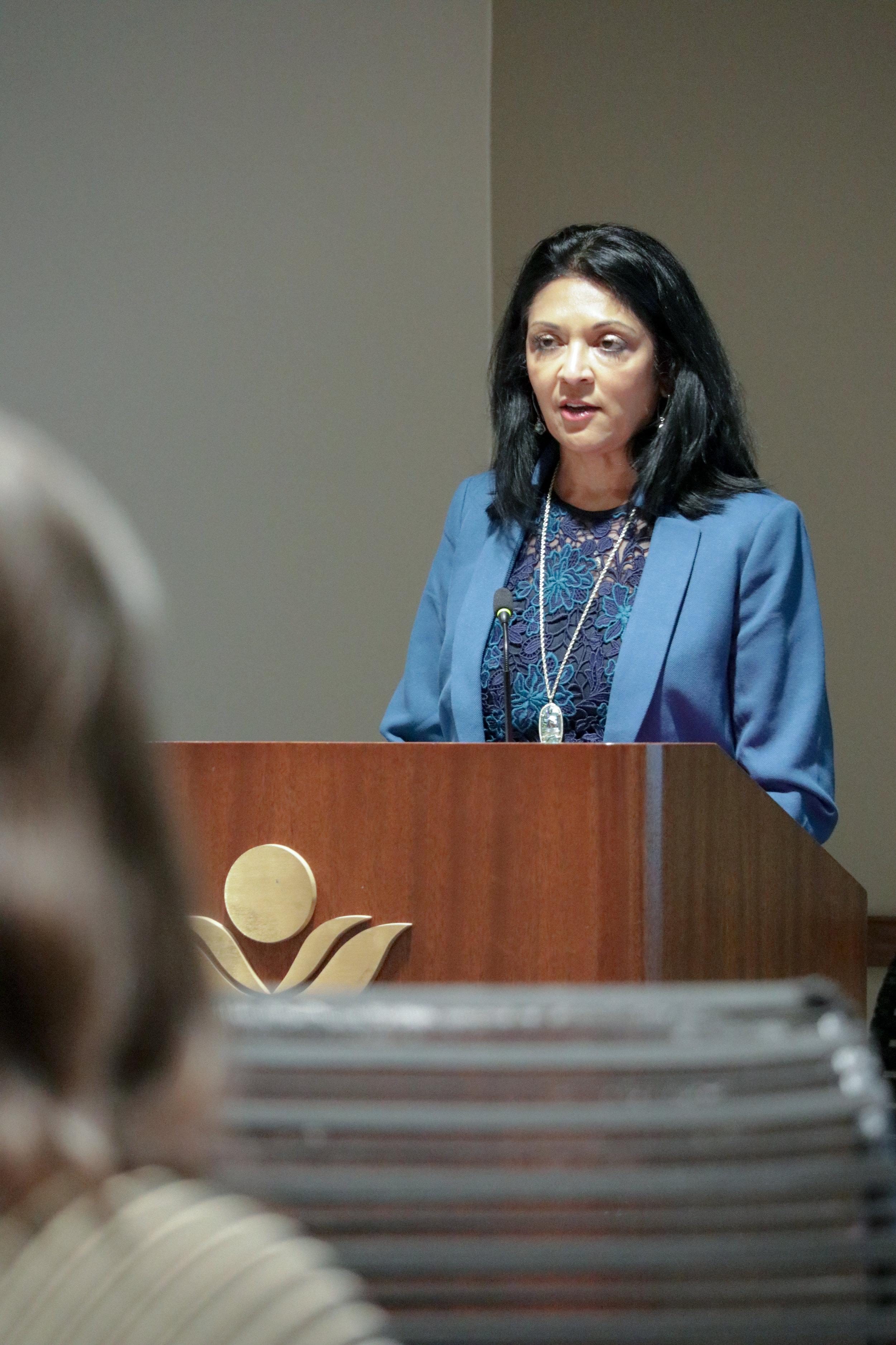 Dr. Anita Somani addressing the YAC