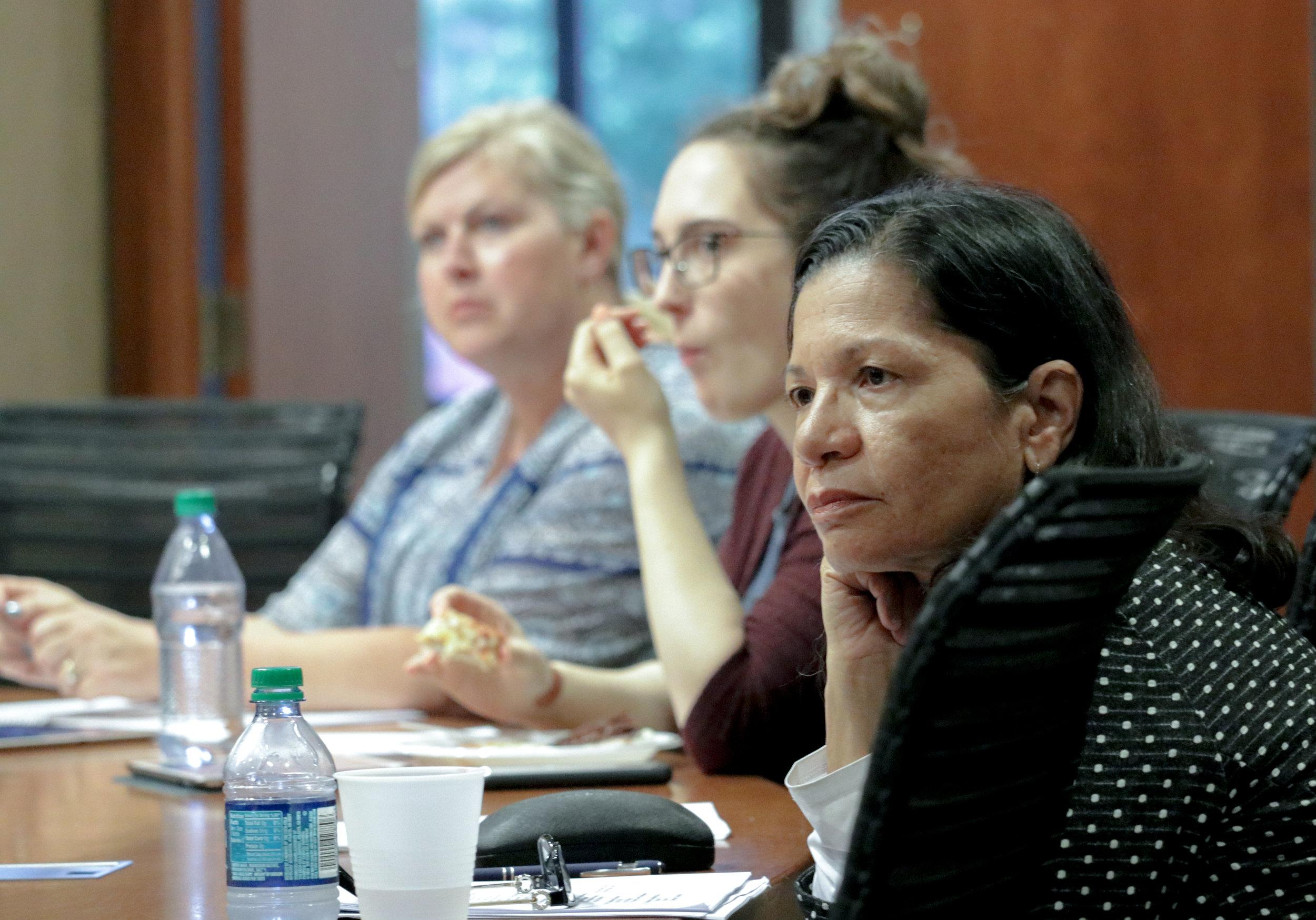 Committee members listening at the June 13th meeting