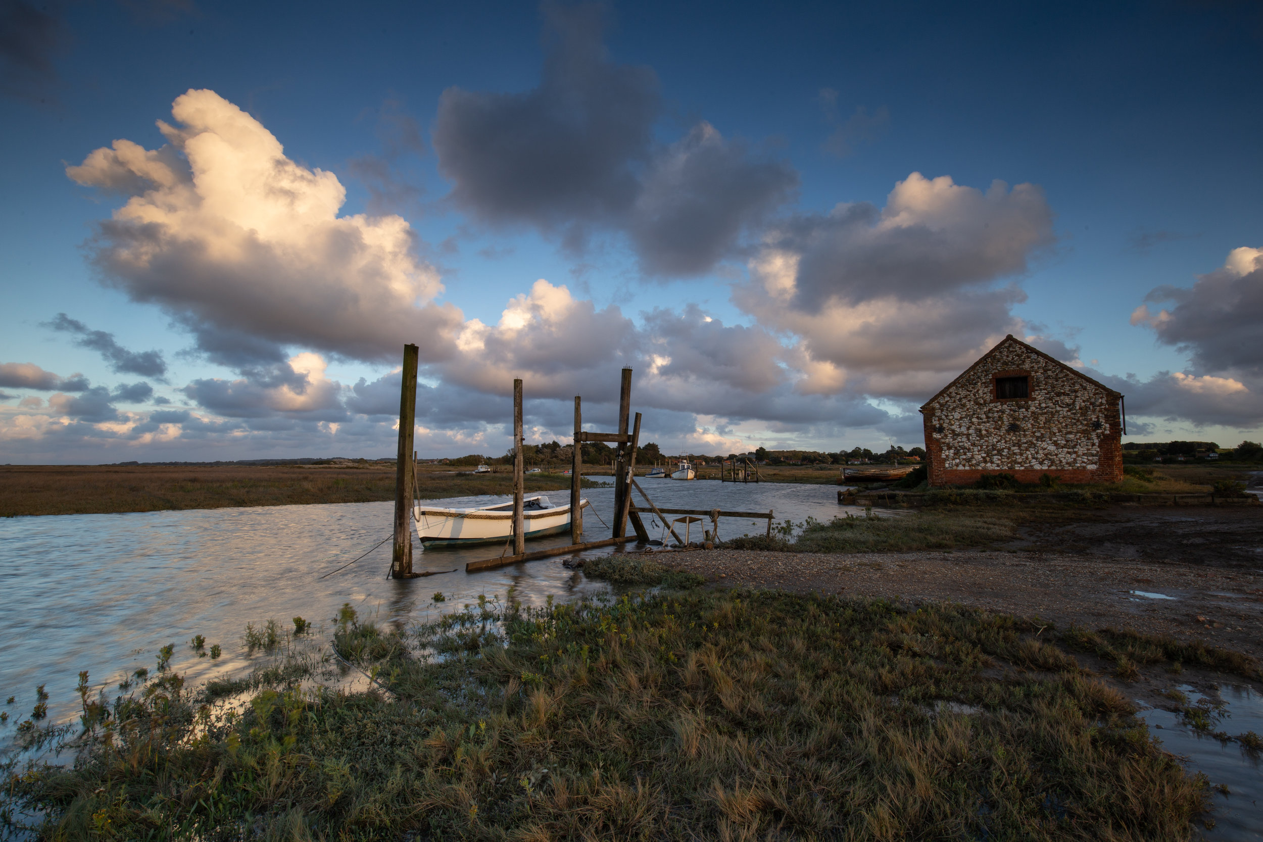 Moored up, Thornham Harbour, Norfolk.