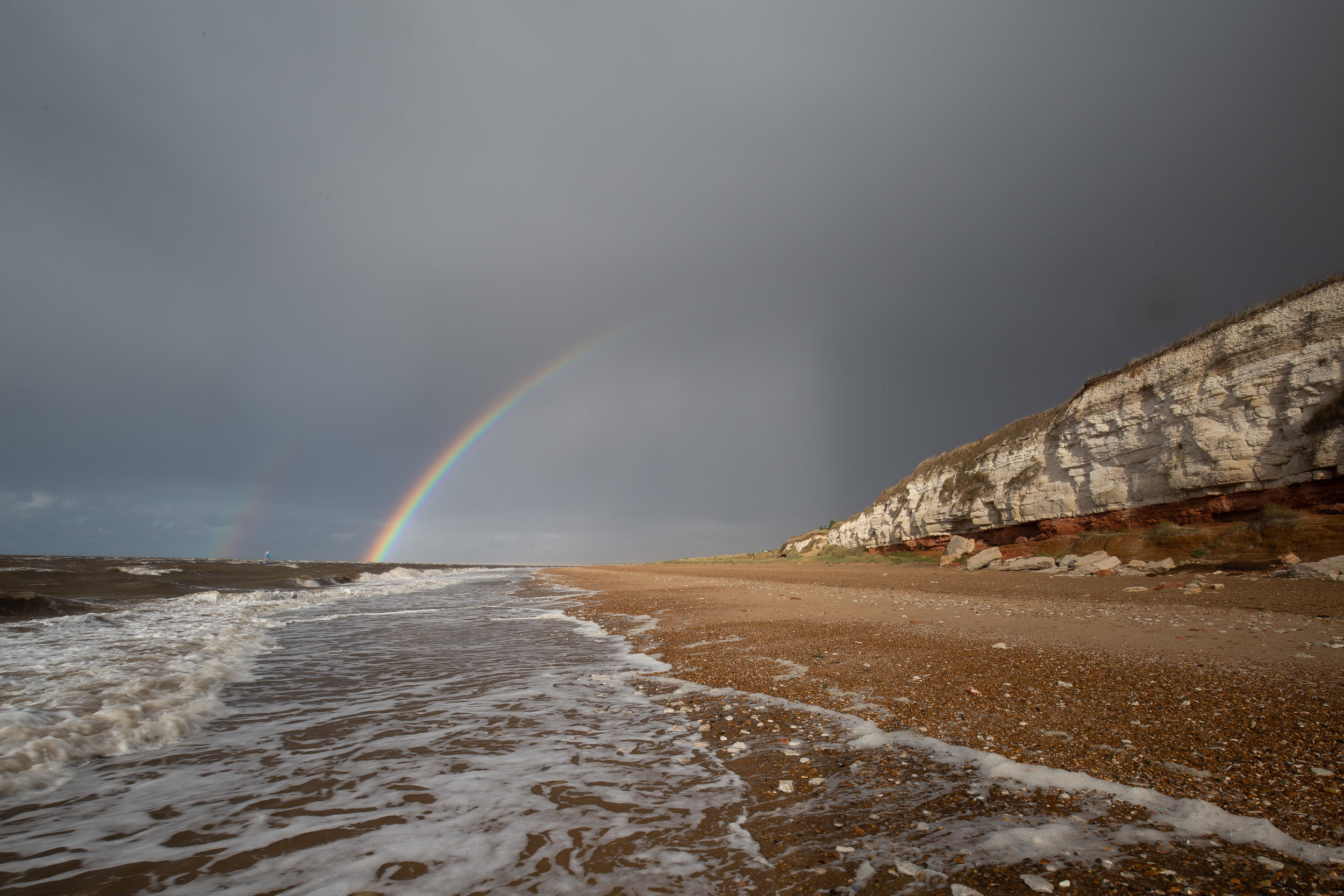 The good after the bad, Hunstanton Beach, Norfolk.