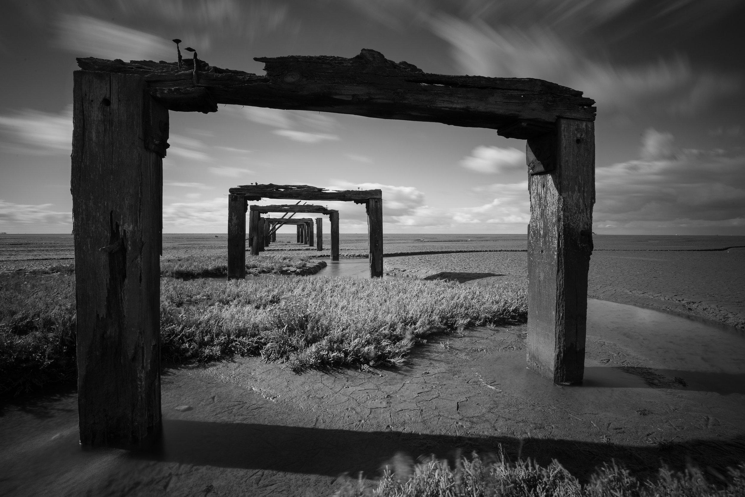 Through the frame, Snettisham,  Norfolk.