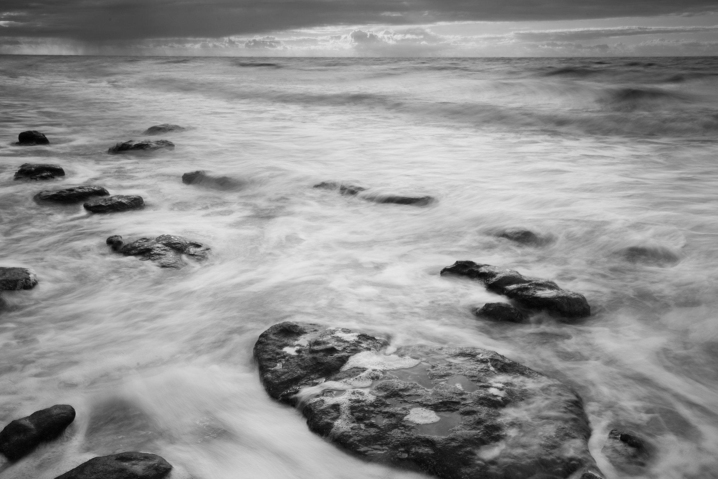 Over the rocks, Hunstanton Beach, Norfolk.