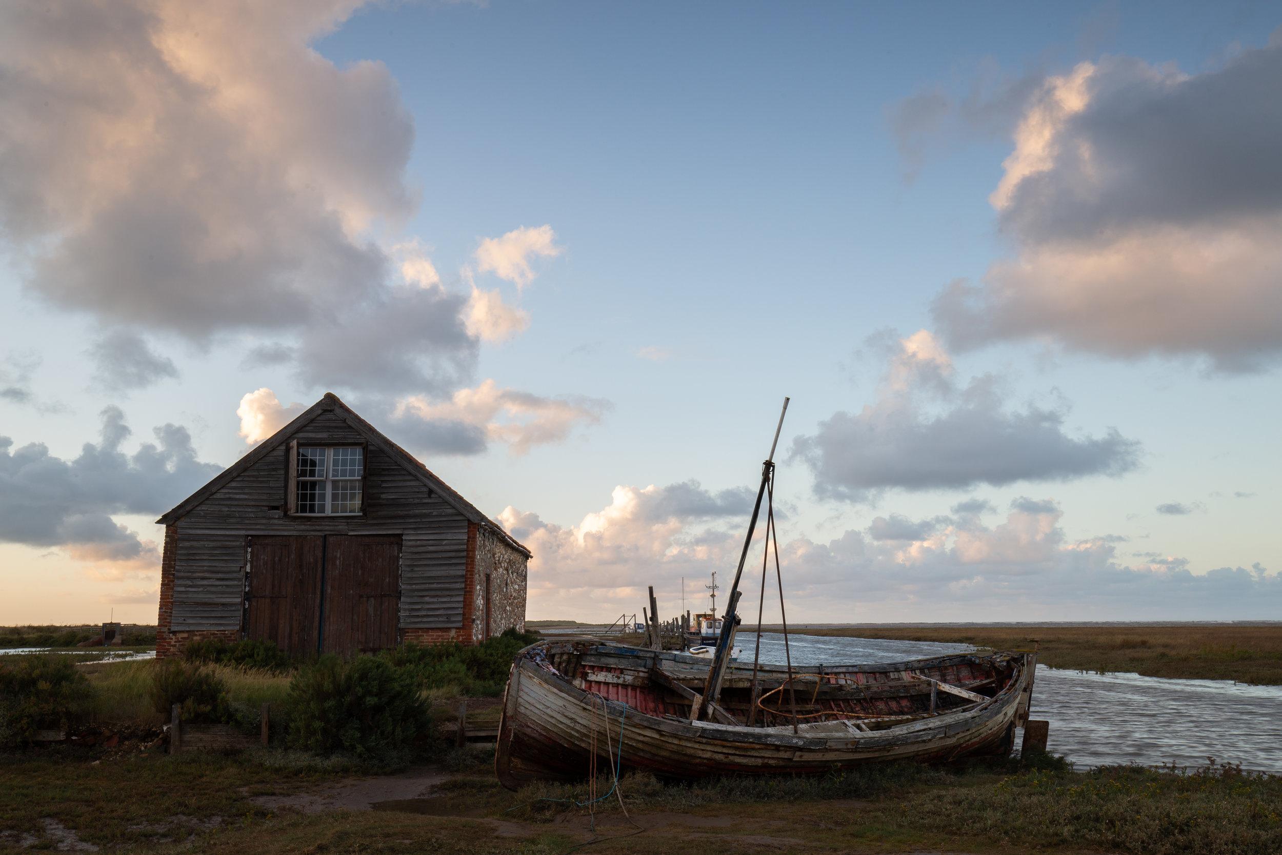 On a slant, Thornham Harbour, Norfolk.