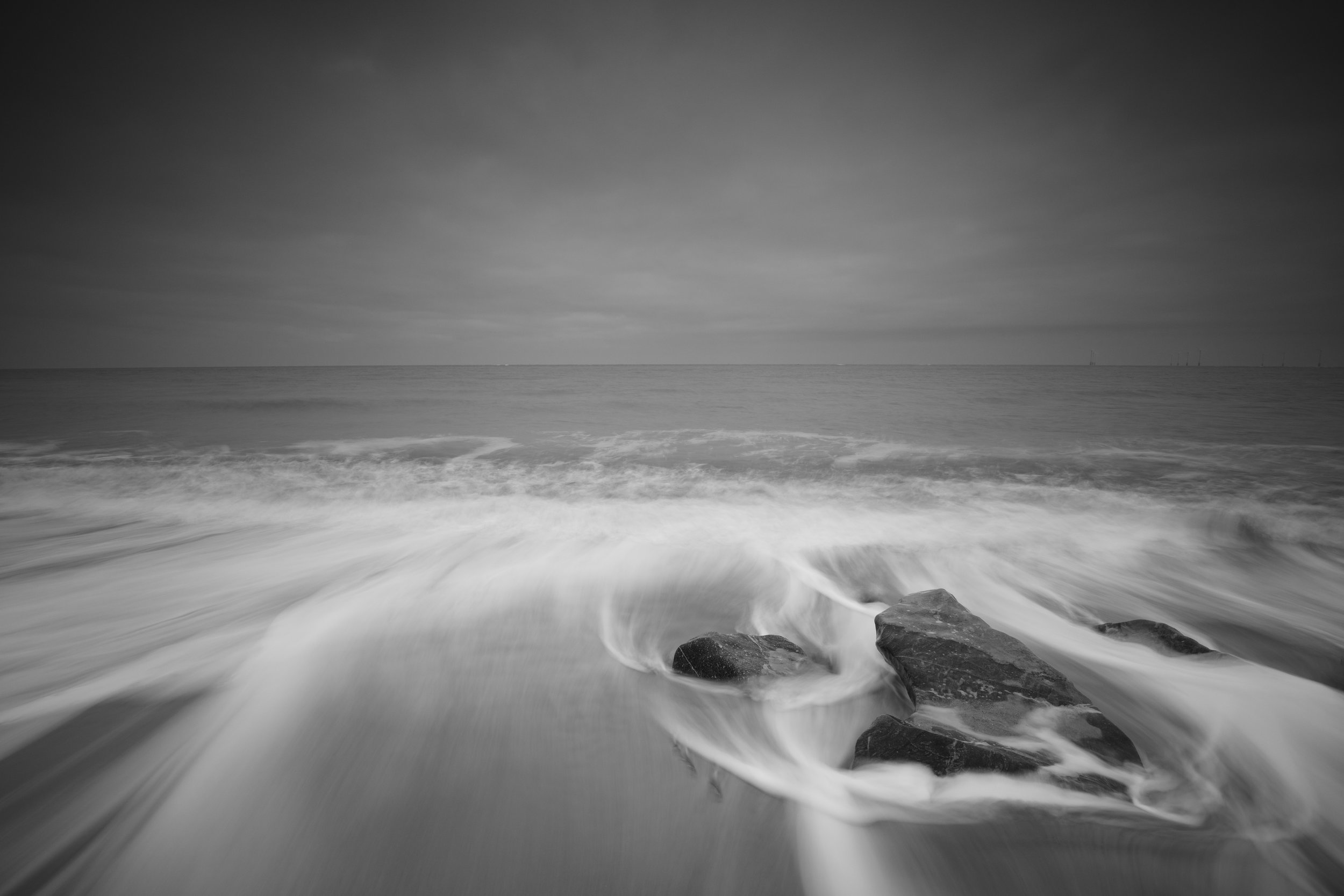 Dramatic flow, Caister, Norfolk.