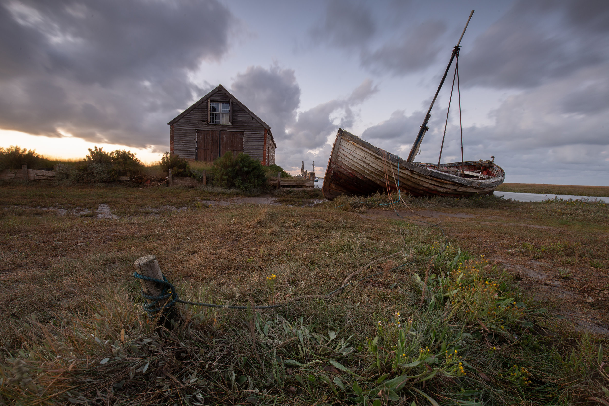 Occasionally Afloat , Thornham Harbour, Norfolk.