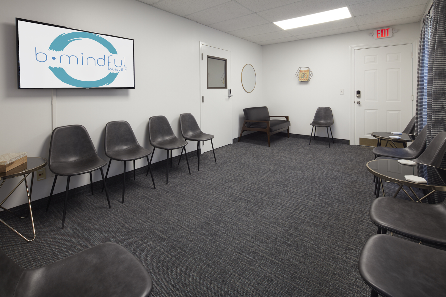 Social Worker Office Space in Louisville, KY - A Modern Office Setting For Meditation Practitioners