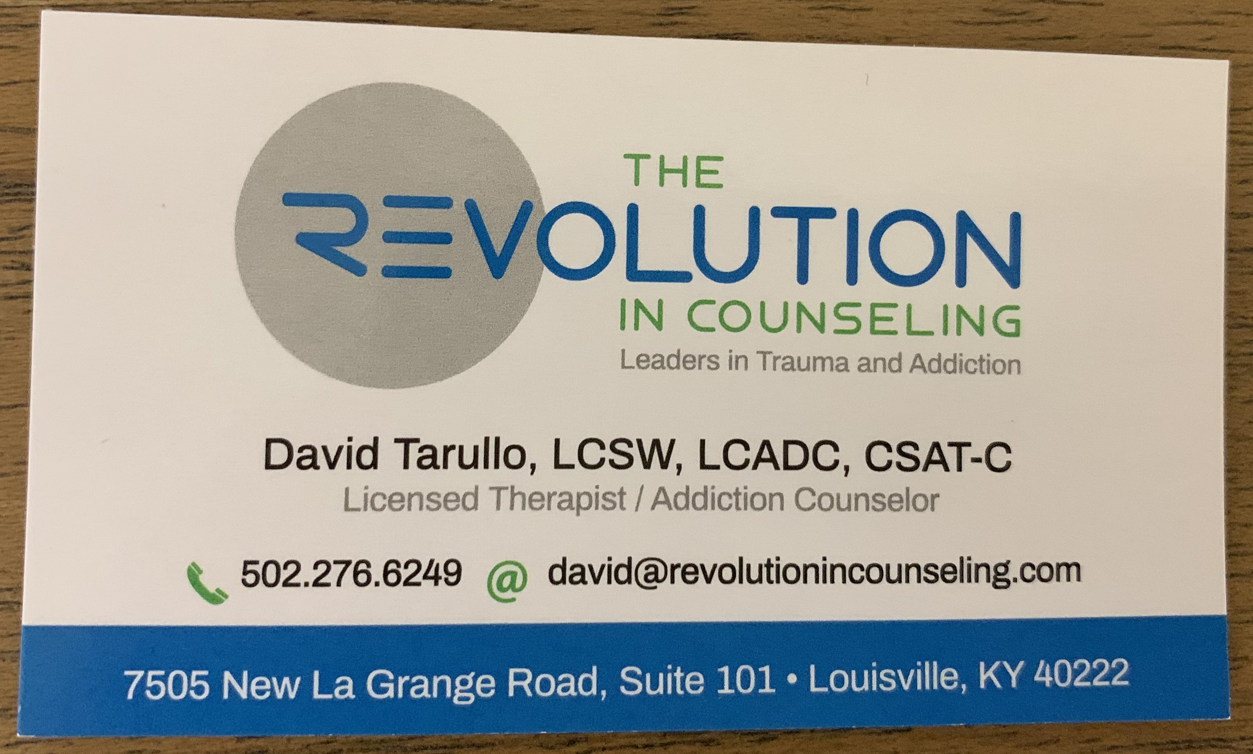 The Revolution in Counseling, Leaders in Trauma and Addiction Counseling