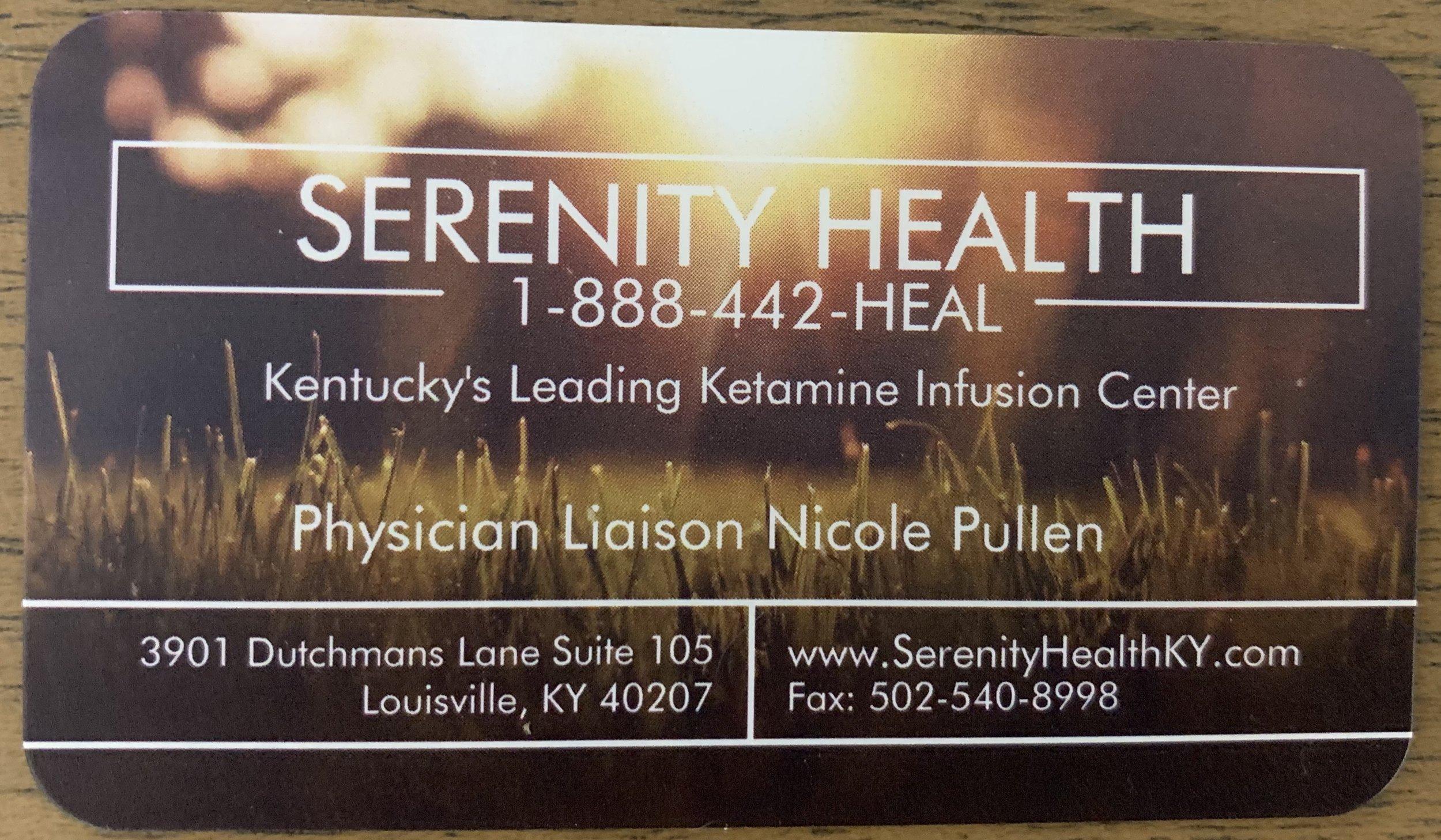 Serenity Health, Kentucky's Leading Ketamin Infusion Center, Nicole Pullen