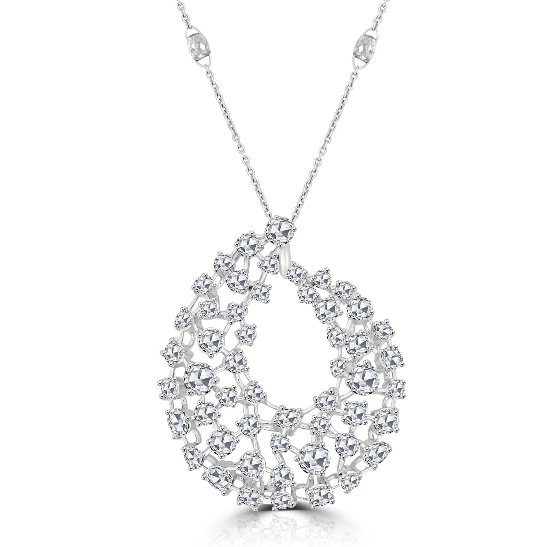 Rose Cut Diamond Milky Way Necklace.jpg