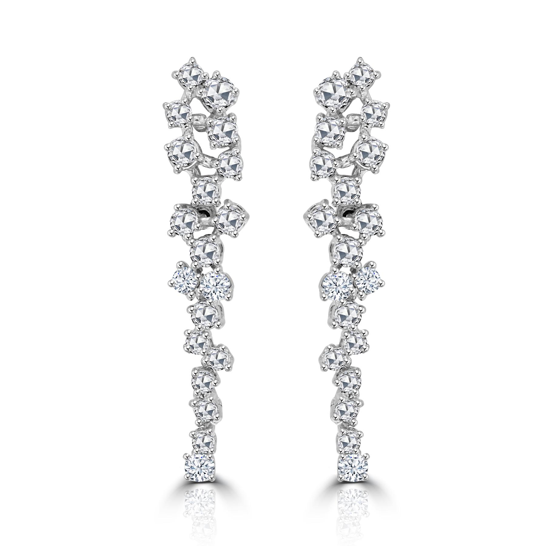 Rose Cut Diamond Dangle Earrings.jpg