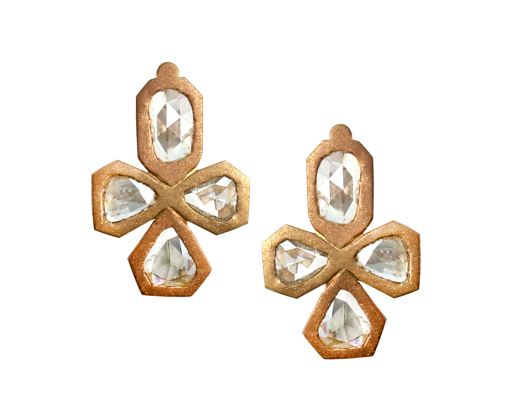 Rose Cut Rose Gold Diamond Earrings Large.jpg