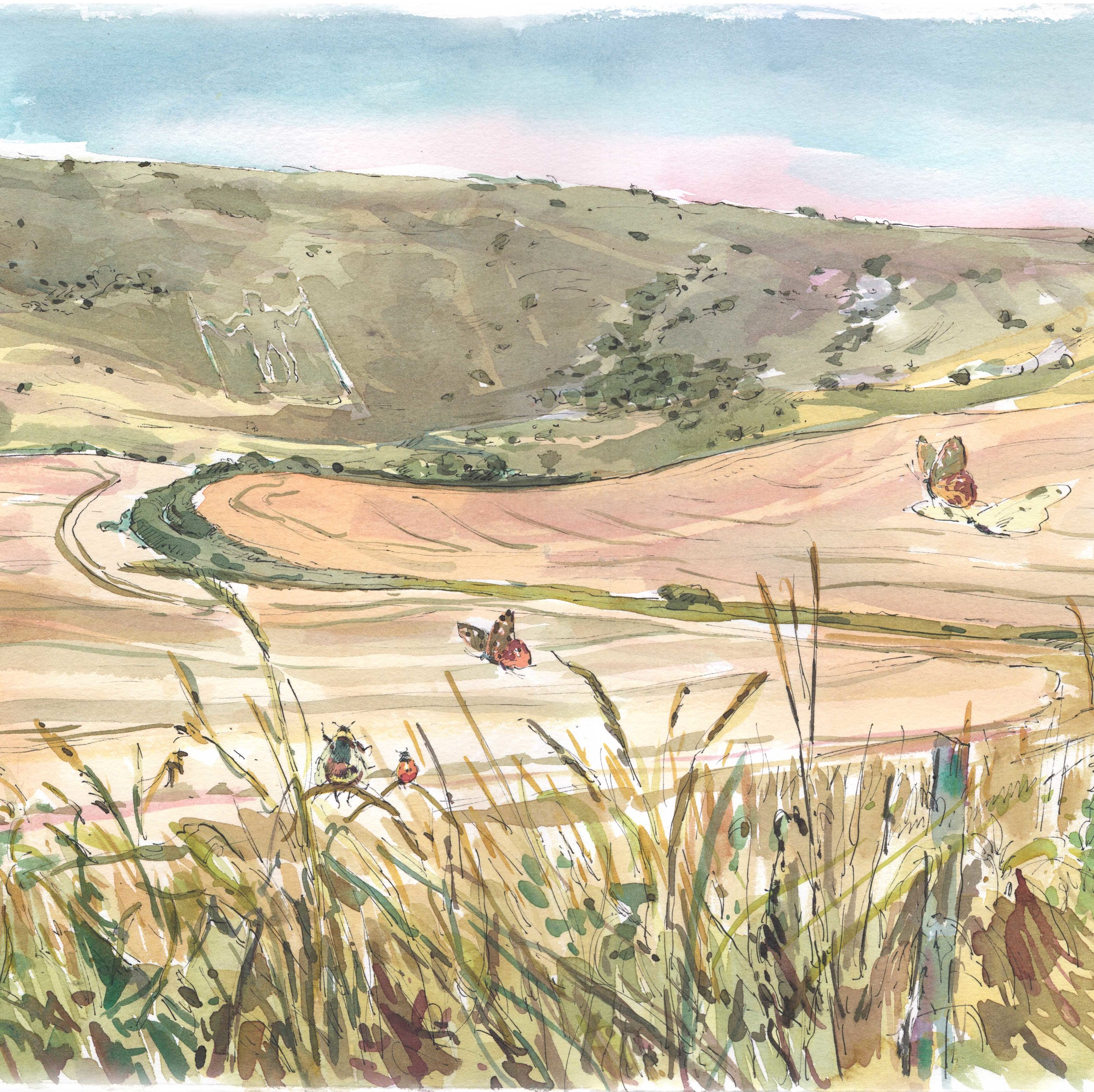 PEN, INK AND WATERCOLOUR IN THE LANDSCAPE WITH CLAIRE FLETCHER