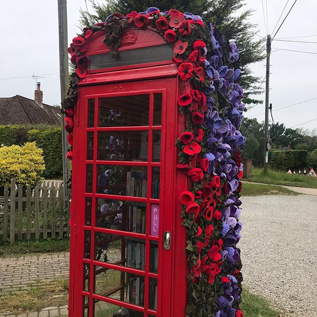 Wonderful Three Oaks post box installation for D Day also a library, info point and local produce 'shop' opposite the local pub #timetostareresidency #poppies #art #installation #timetostare