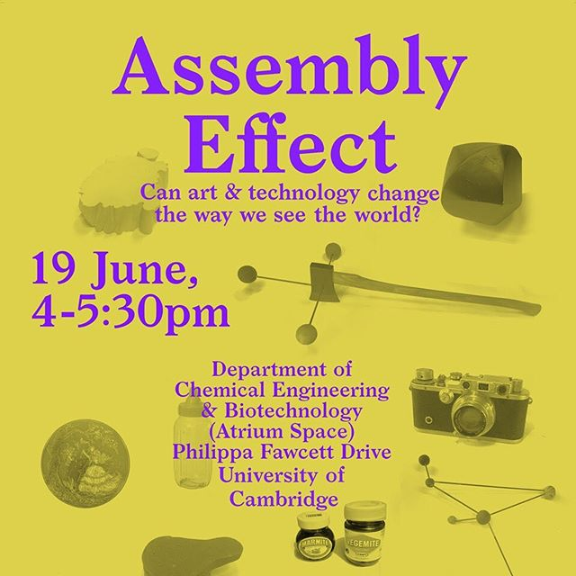 Excited to be talking at this event today with one of our #timetostareresidency collaborators  #sciencemeetsart #practice #creativity #process CAS Consultancy talk: Assembly Effectwith Troika  19 June 2019, 16.00—17.30 followed by a drinks reception  Department of Chemical Engineering & Biotechnology (Atrium Space) Philippa Fawcett Drive Cambridge, CB3 0AS  Free to all but requires reservation