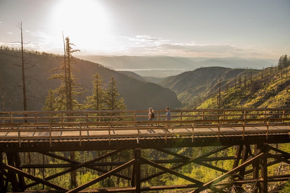 Kettle Valley Rail Trail, Myra Bellevue Provincial Park  Credit: Destination BC