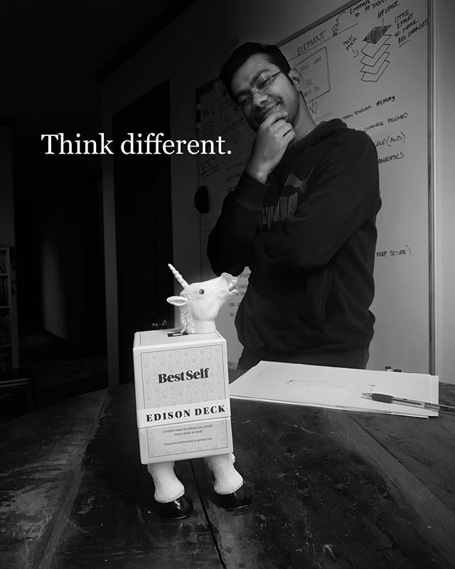 Eat your heart out @apple  Adroit, Thinking differently since 2014  #thinkdifferently #iot #funintheoffice #greatteam #agile #thinking #unicorn #bestself