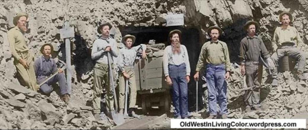 Vers 1900 - Mineurs du vieux Ouest