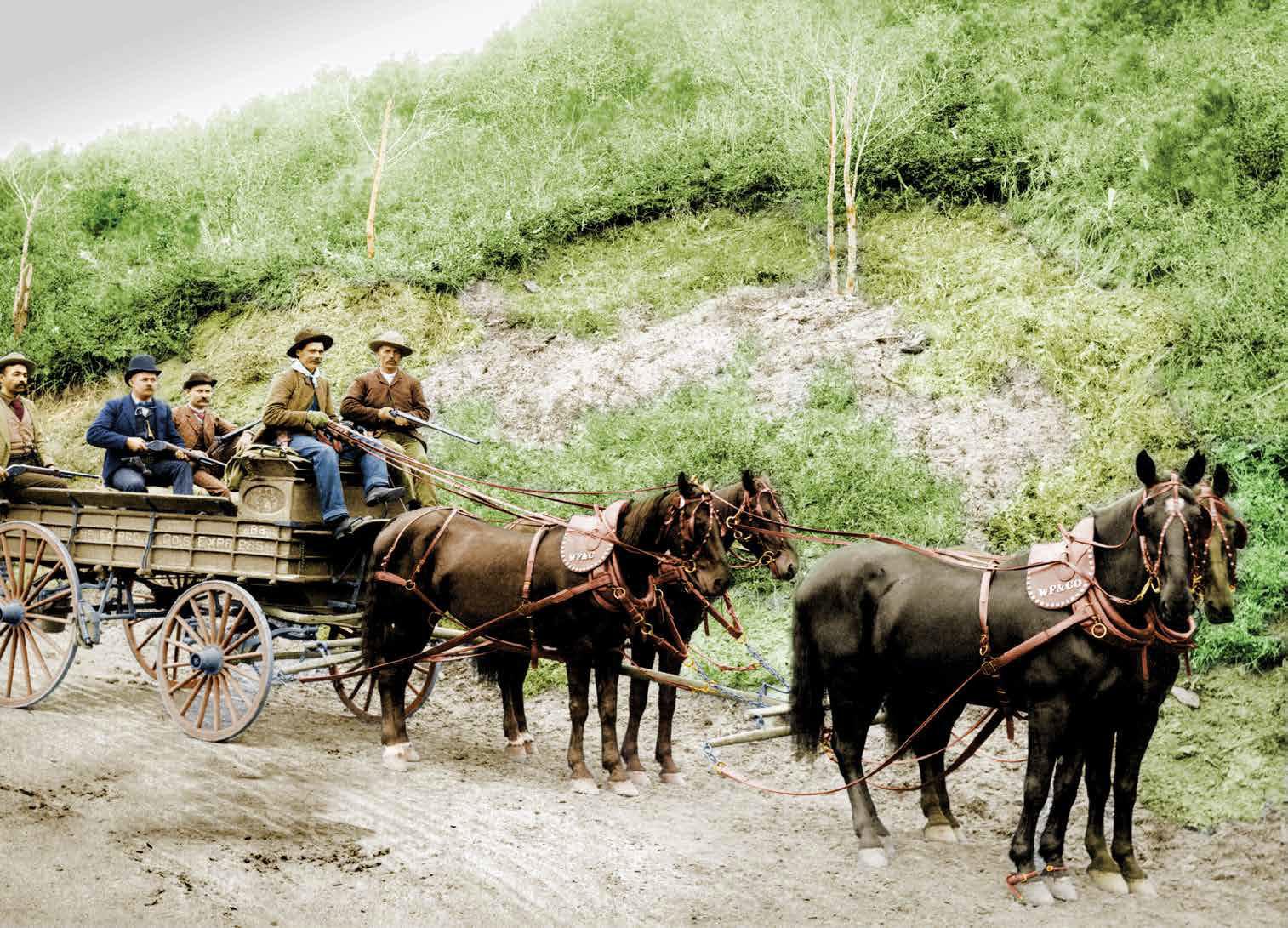 Convoyeurs de la Wells Fargo vers 1900 - source reddit.com