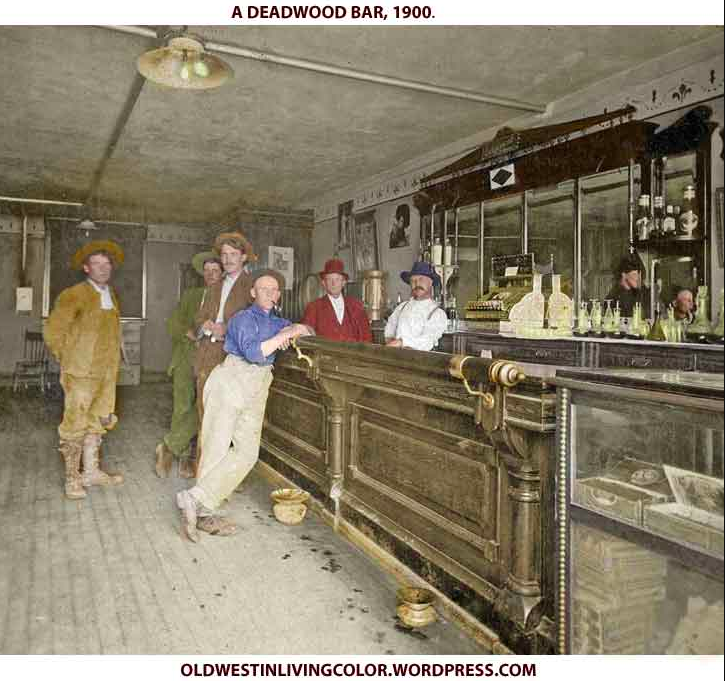 Vers 1900: Deadwood, Dakota du Sud.  La ville de Calamity Jane, Seth Bullock et Wild Bill Hickok.