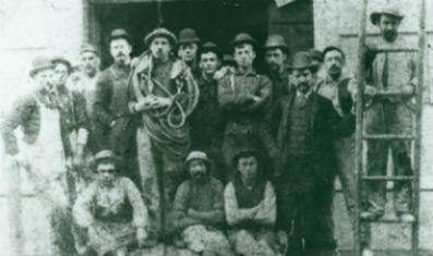 Les travailleurs italiens de l'Ile de Bedloe - fin 19eme - nps.gov