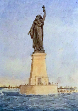 Source de l'image; wikipedia - La liberté éclairant l'orient