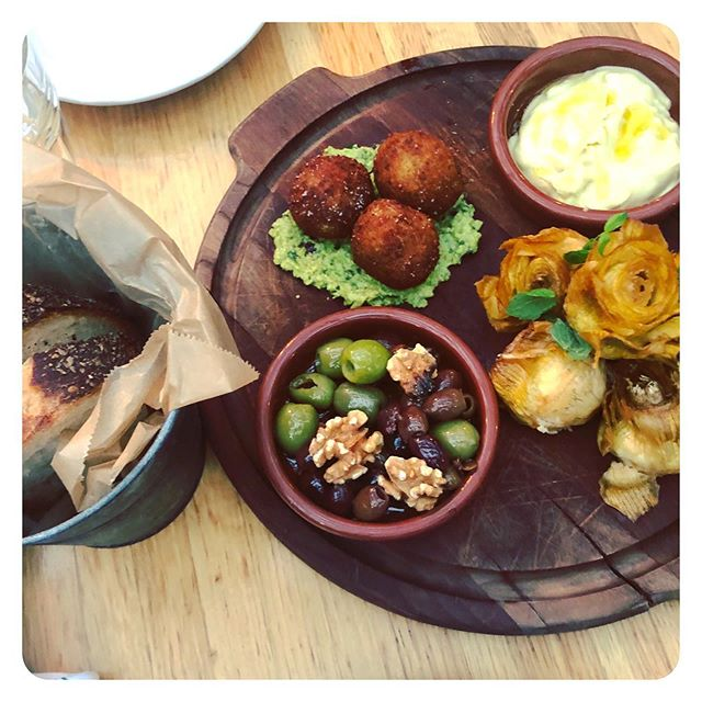 Arancini and artichokes and olives, oh my! #AnItalianStateofMind #Soulfood