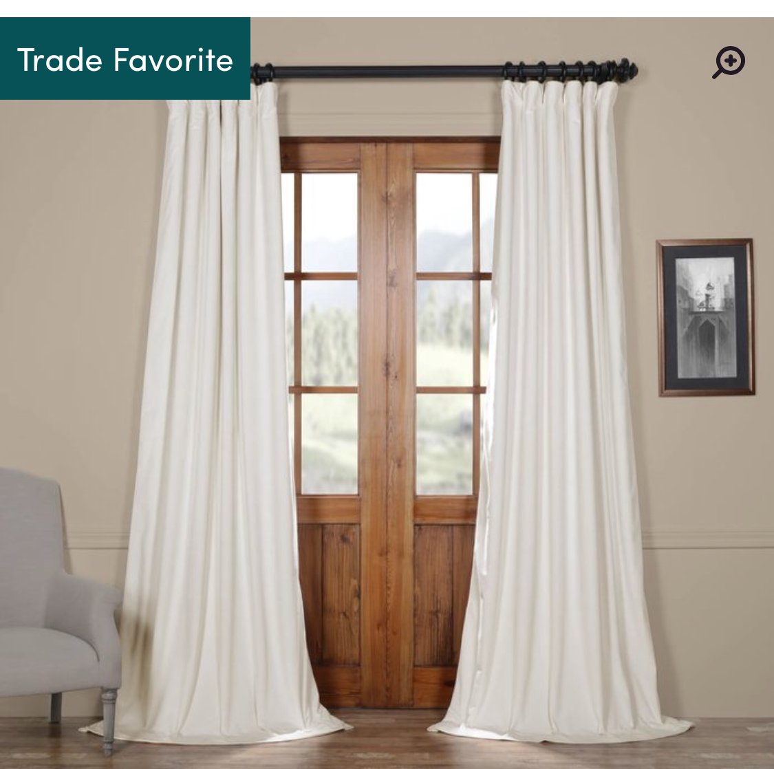 Albert Solid Blackout Thermal Curtains: Wayfair $52.00 -
