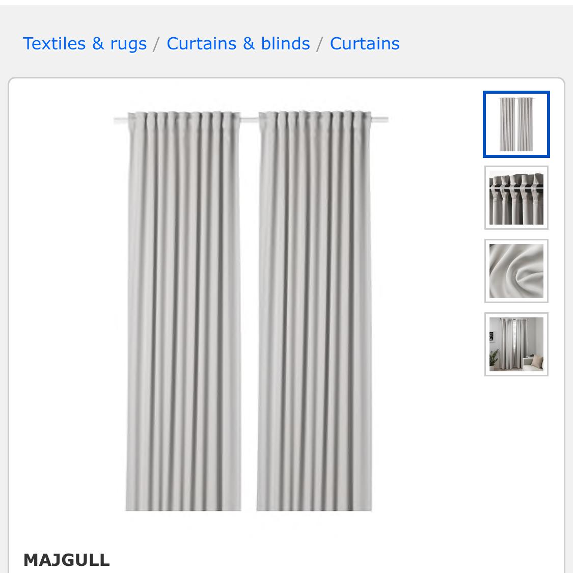 Majgull Panels: IKEA.com 34.99 -
