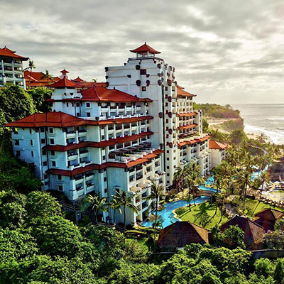 NIKKO BALI RESORT & SPA    Bali, Indonesia   A unique 5-star diamond resort nestled into the frested, ocean-front cliffs of Bali overlooking the turquoise waters of the Indian Ocean.