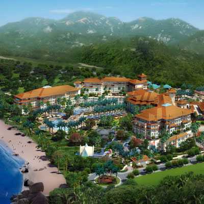 OCEANIA POINT REGAL PALACE HOTEL    Huizhou City, Guangdong, China   The 445-room hotel will be built along the shoreline, on a forested hillside overlooking the ocean allowing the resort unobstructed ocean views throughout. The resort hotel and villas, spa and convention center, combined with enduring architecture will quickly establish the Regal Palace as the preeminent resort experience in the region.