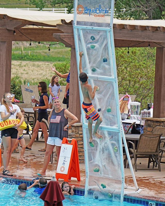 Valley Country Club in Colorado is bringing the fun to new heights! #aquaclimb
