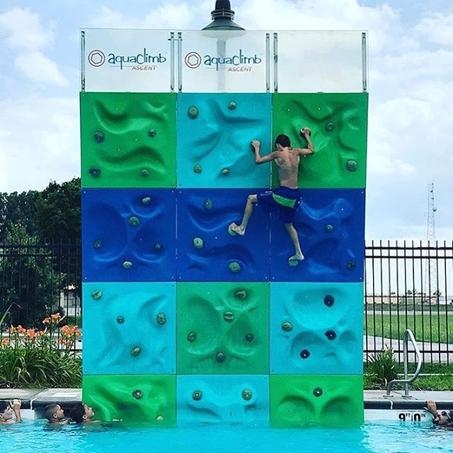 @shaneniemi17 checking in from Spash City Water Park in St. Louis! AquaClimb walls are safer, and a whole lot more fun than diving boards, while also sneaking in some exercise! Happy climbing. (📷: @shaneniemi17 ) #aquaclimb . . . . #climb #climbingwall #pool #poolside #stlouis #missouri #family #familyfun #summer #outdoors #reccenter #aquatic #aquaticcenter #waterpark #new #usa #photo #potd #pooltoys #pooltime