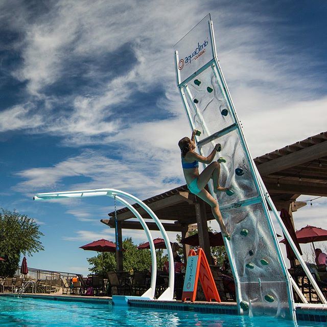 Determination to get to the top and building confidence and self esteem along the way. #aquaclimb