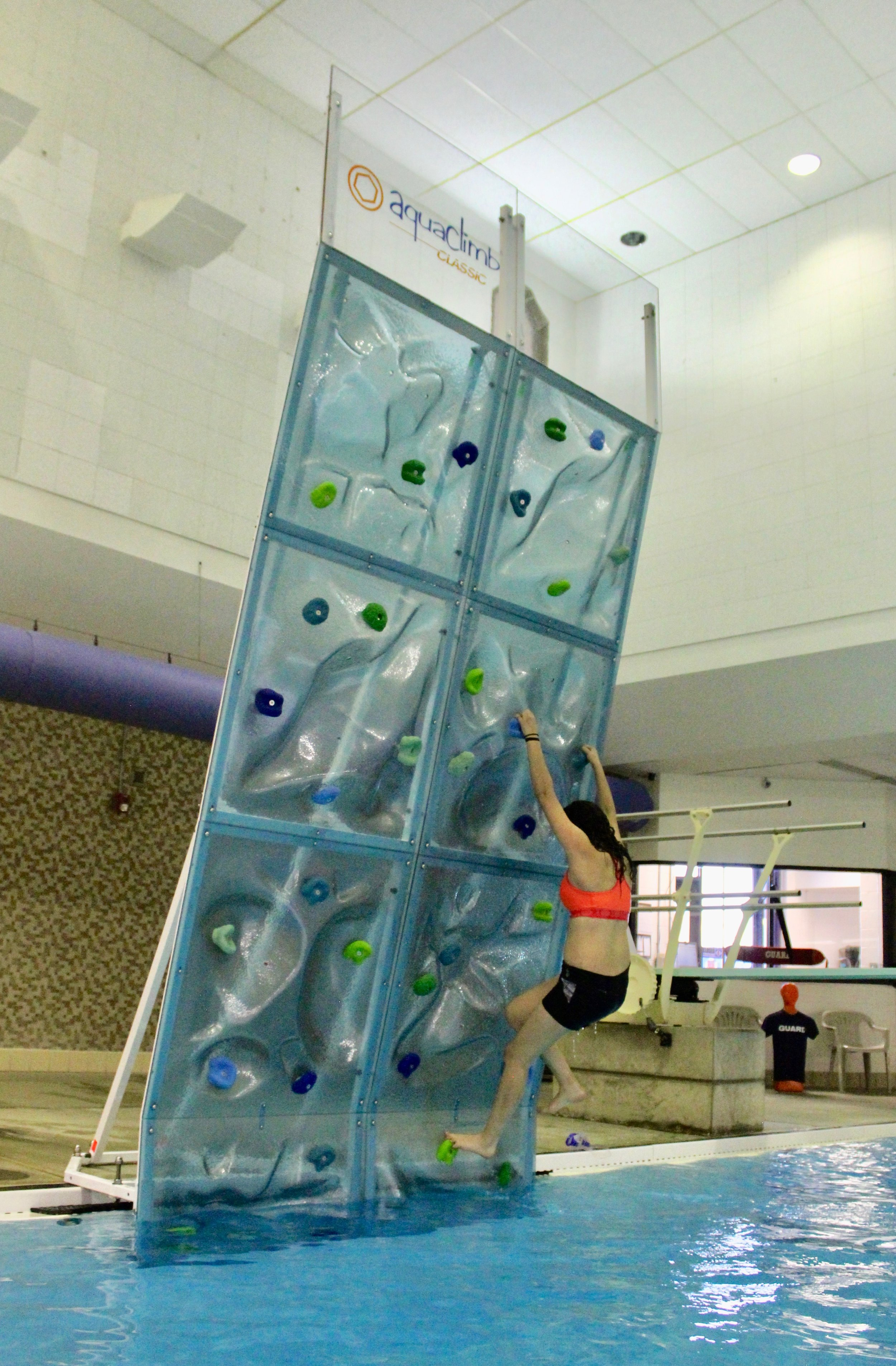 """If the group is on the fence…it helps to remind them that we havethe climbing wall as an amenity"" - Judy Green, Aquatics Coordinator"