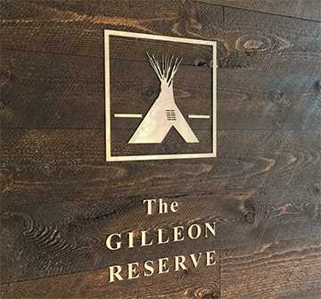 The Gilleon Reserve - Gallery Sign