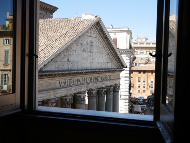 Our view from our room at Albergo Del Sonato Hotel, Rome