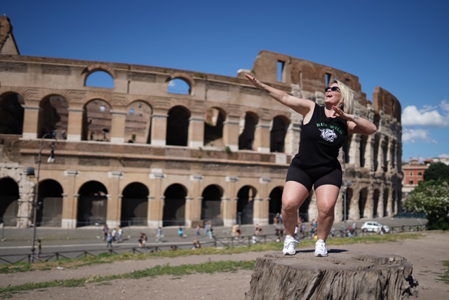 Outside the Coliseum, Rome