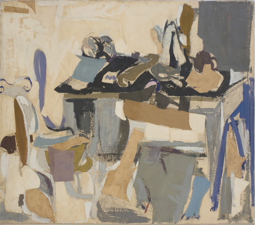 Table Chargee (fond fonce a droite), 1963