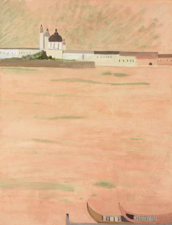 "Biala, ""Vue despuis de la Giudecca,"" 1985, Oil on canvas, 77 x 59 in."