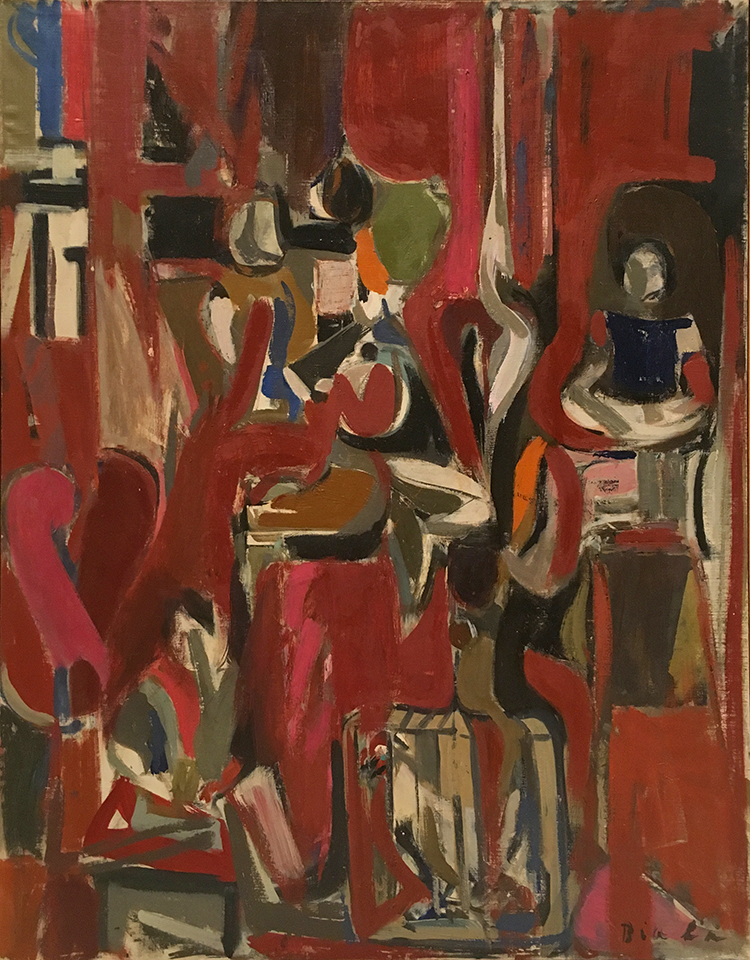 Red Interior with Child, 1956