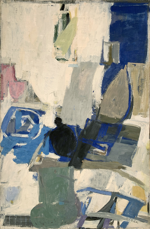 White Interior with Black Kettle, 1961
