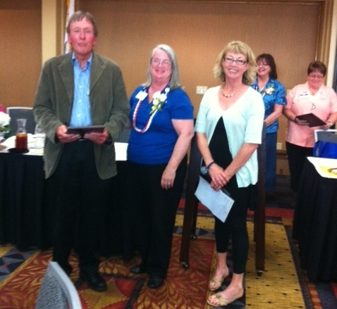 Sebastopol Kiwanis member Barry Lutz receiving outstanding citizen award in Santa Rosa -