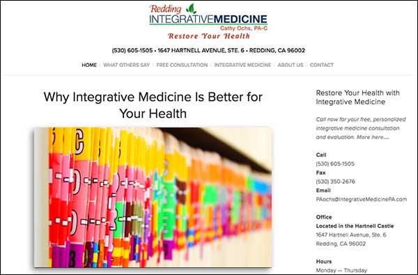 ReddingIntegrativeMedicine.com  designed by  Barb's Website Design .