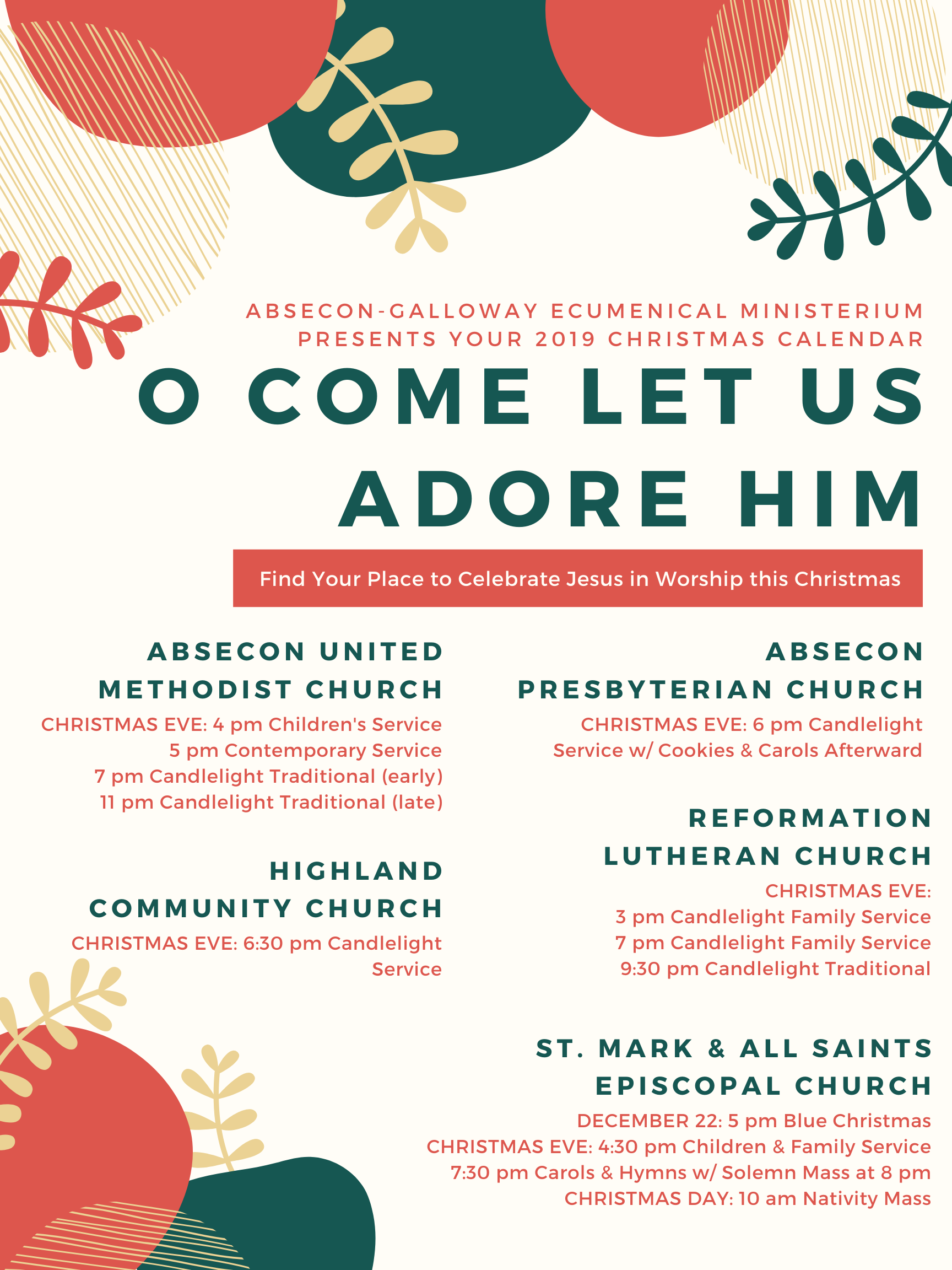 Reformation Lutheran Church In Galloway Christmas 2020 Your Churches Together — Absecon Presbyterian Church