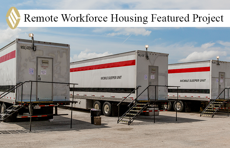 FEATURED PROJECT:  Following historic Hurricane Harvey, SLS immediately mobilized and set up five emergency TxDOT mancamps along the coast and in the affected areas, with all camps functional within five days of activation.