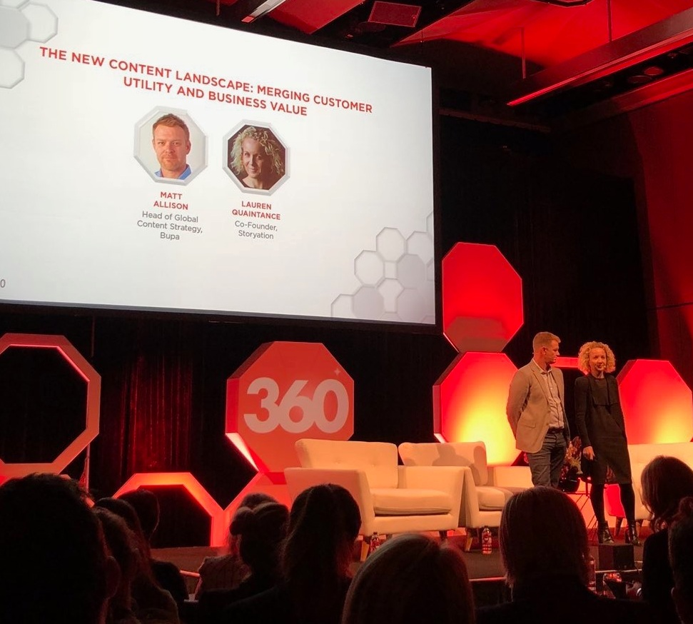 Matt and Lauren talk al things content and customer at Mumbrella 360