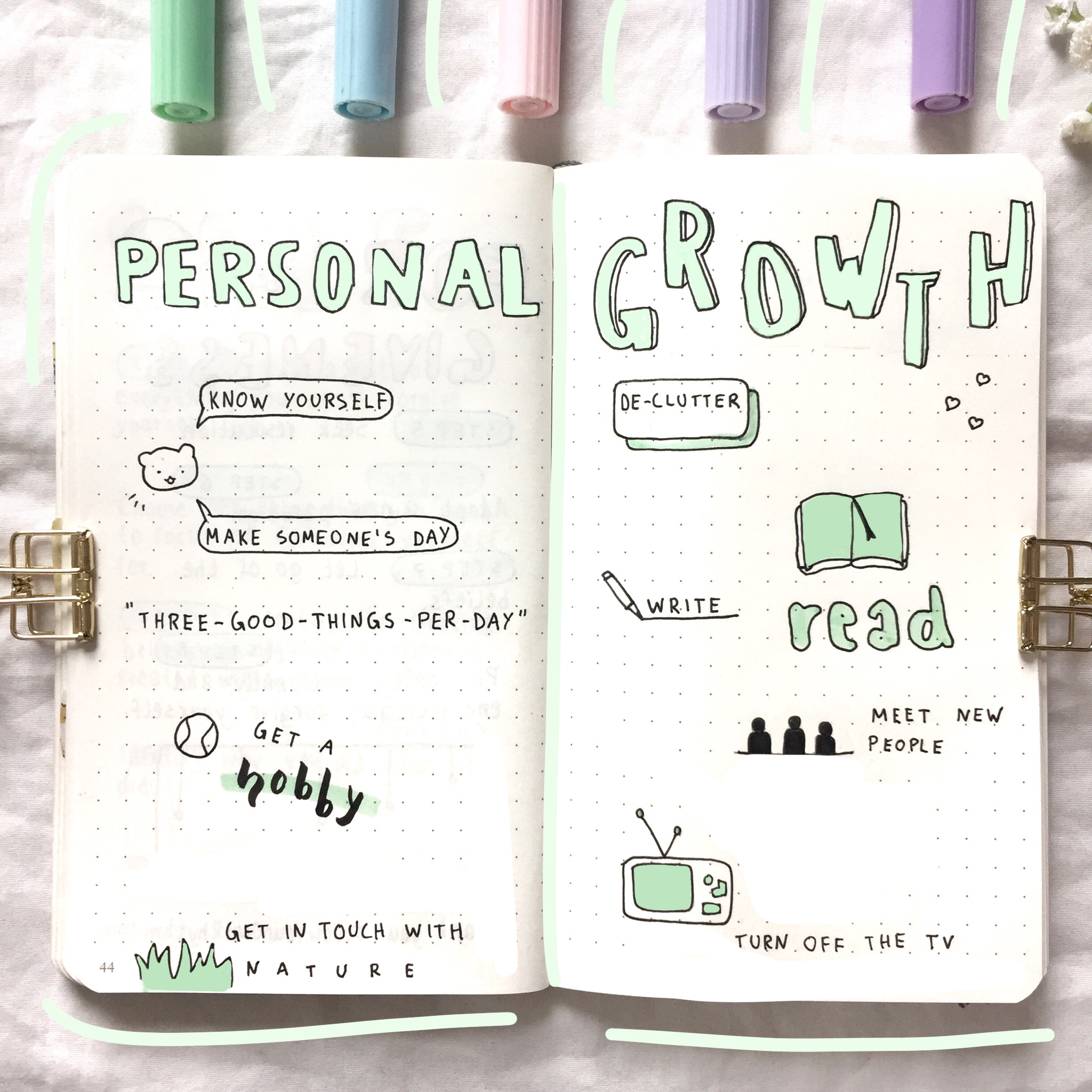 personal growth bullet journal